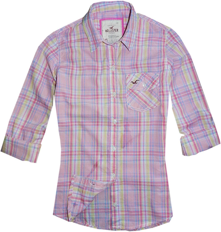 Hollister - Camisas - para mujer rosa rosa 8: Amazon.es: Ropa y accesorios