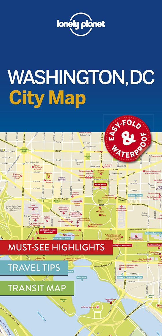 Lonely Planet Washington City Map