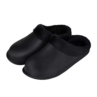 Vigor Life Waterproof Clogs House Slippers - Faux Fur Lining Fuzzy Slippers Warm Fluffy Garden Clogs Shoes with Anti-Skid Sole for Indoor/Outdoor | Slippers