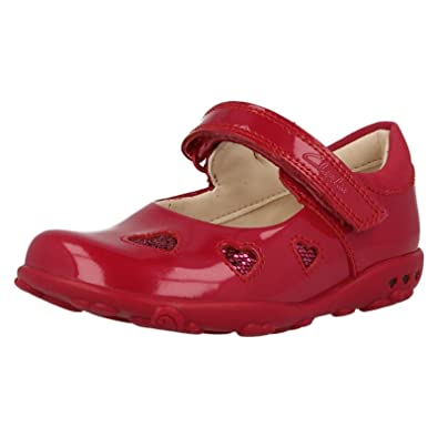 7351aafb21ae Clarks Ella Leah Girls Shoes Child UK 6.5 F Purple