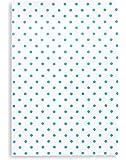 Torchon métis imprimé, lin&coton, TRIOLINO®, motif points bleus, 50x70 cm