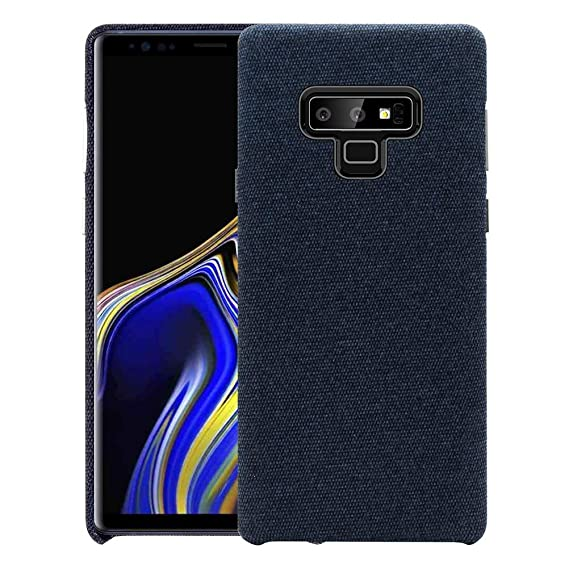 sale retailer 23c4d 5871d Samsung Galaxy Note9 Fabric Case, Drop Protection with Soft Cotton Texture  Cover and Anti-Scratch Plastic Grip Back Case for Galaxy Note 9 6.4 inches  ...