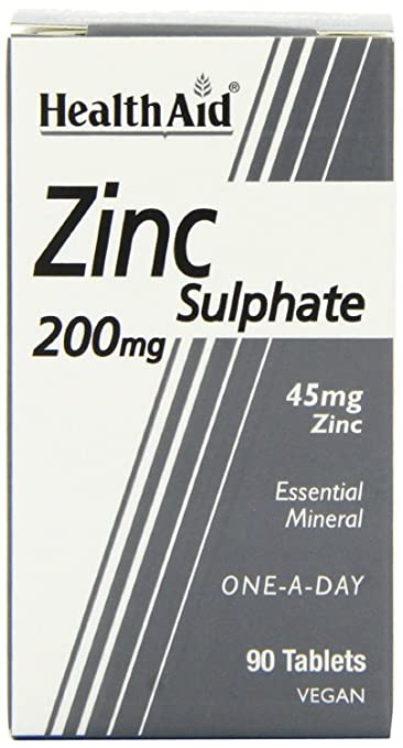 Amazon.com: HealthAid Zinc Sulfato 200 mg (45mg Elemental ...