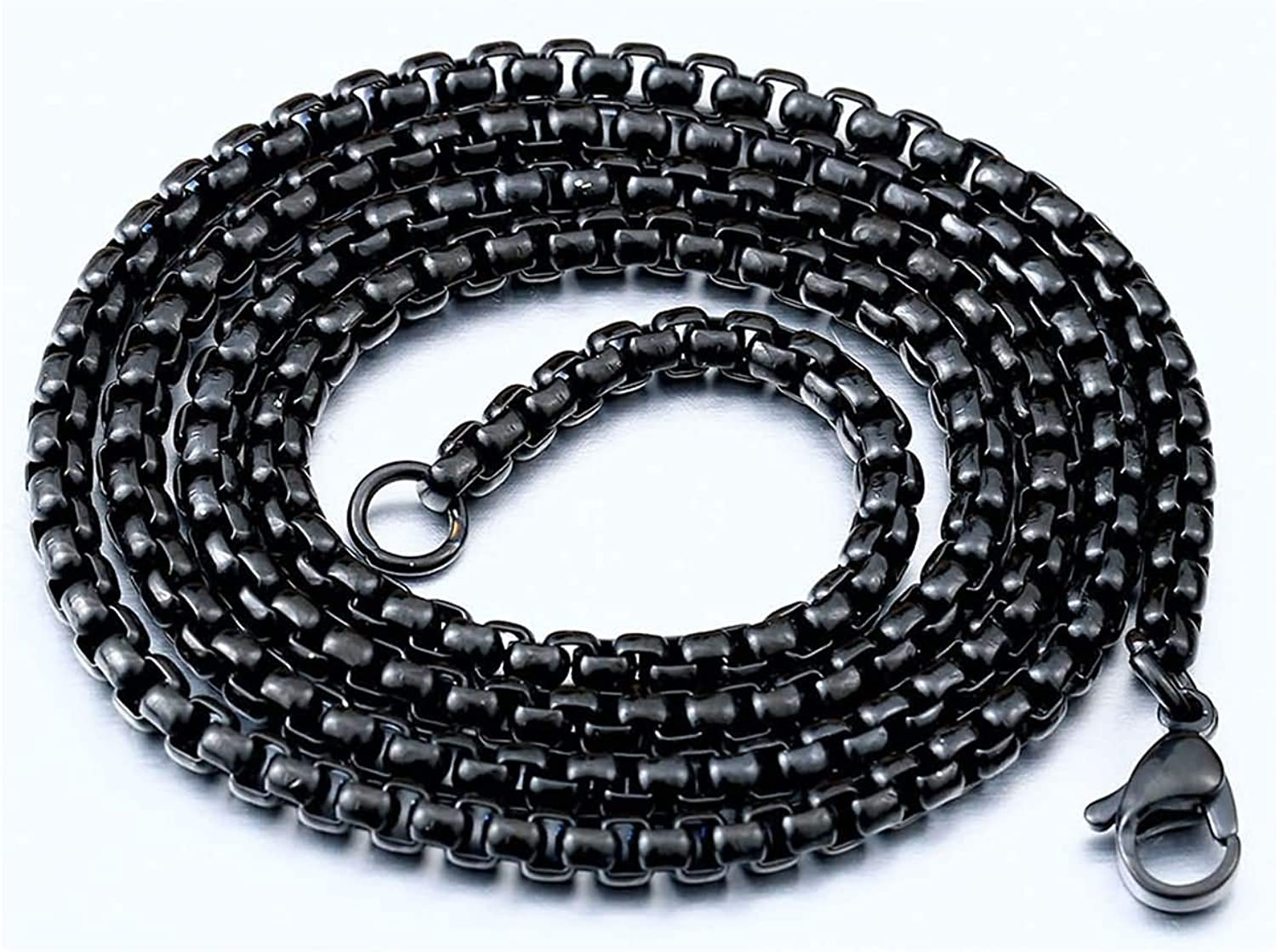 Gnzoe Mens Necklace Stainless Steel Bead Chain Necklace