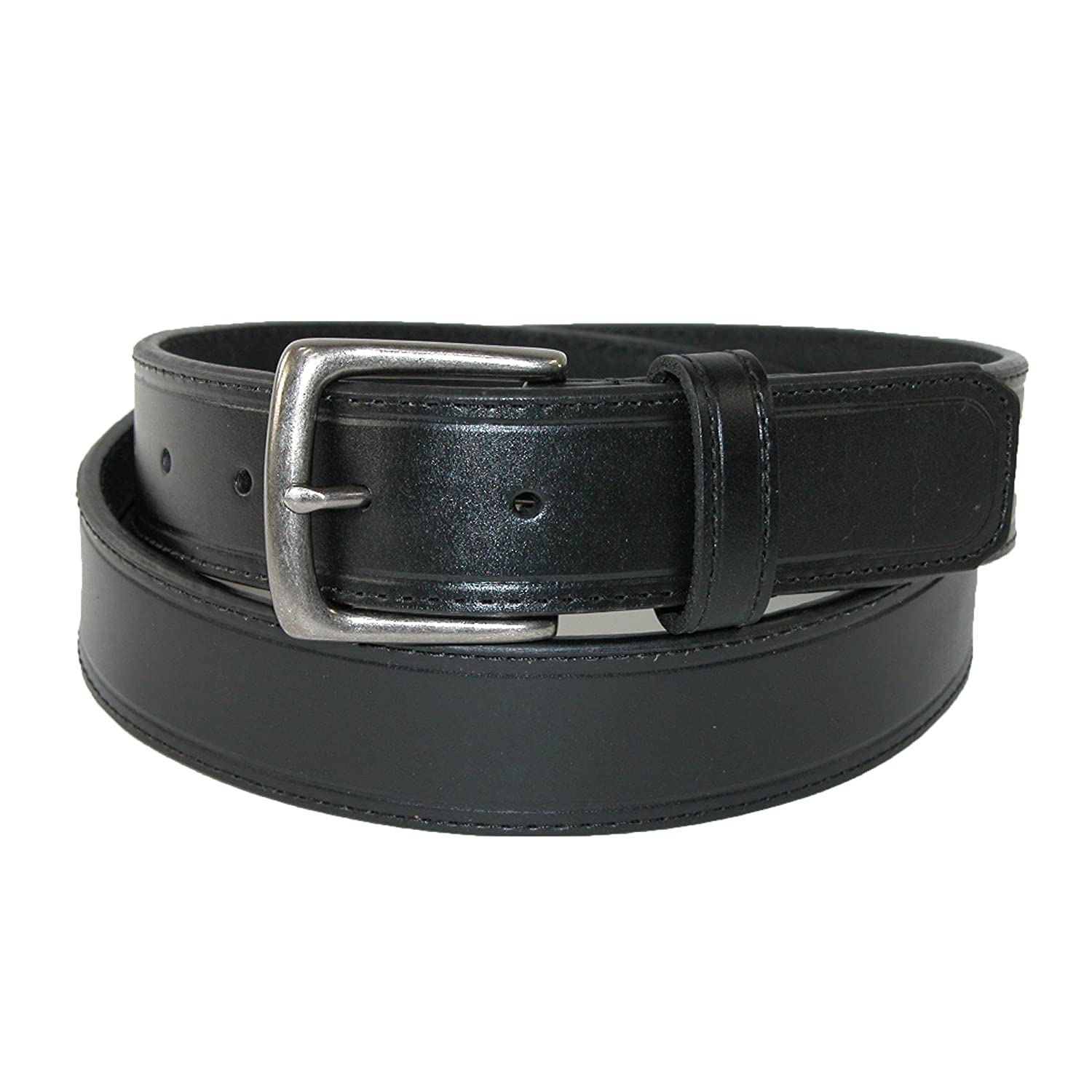42 Sharp Mens Leather 1 1//4 Inch Casual Security Money Belt Black