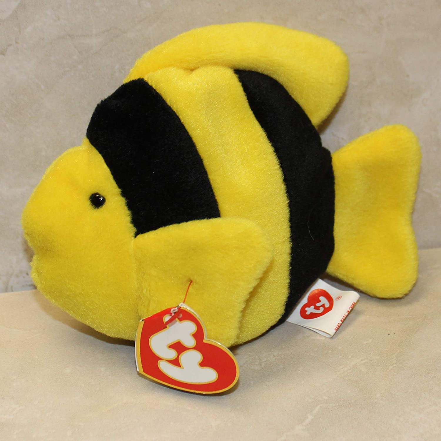 Toy Bubbles The Fish Ty Beanie Baby