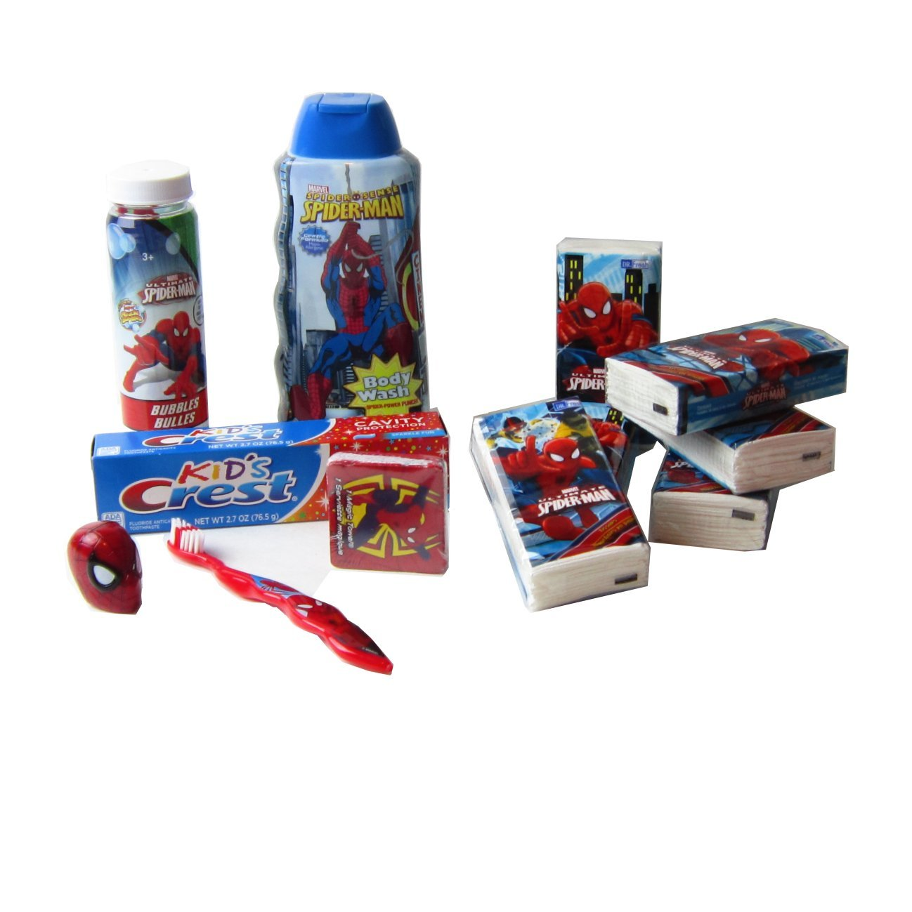 Amazon.com: Spiderman Bath Set Spiderman Personal Bath Accessories ...