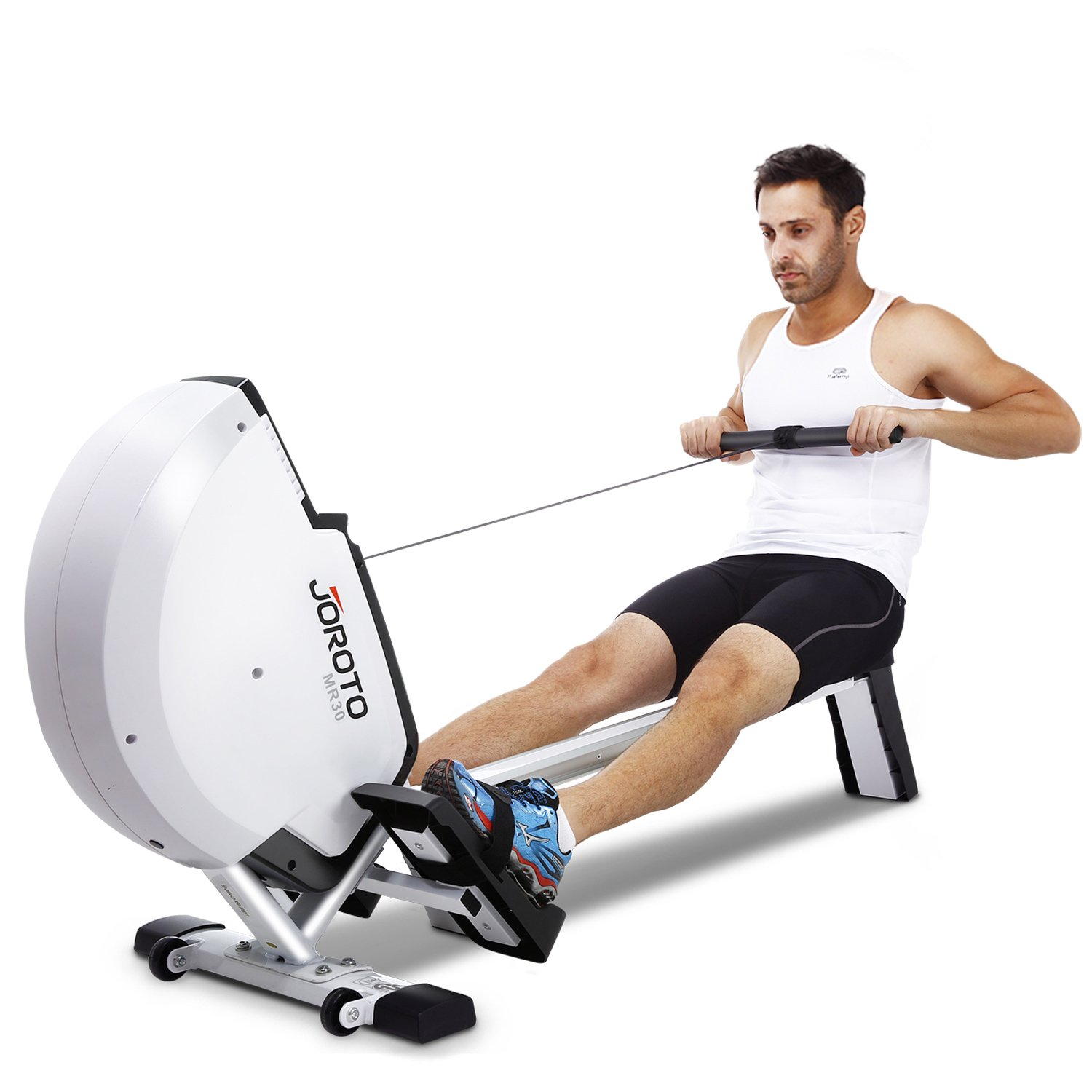 JOROTO Magnetic Rowing Machine with LCD Monitor Rower Row Machine Exercise Equipment Workout Machine for Home Use by JOROTO