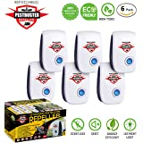 perfectlyMADE [NEW 2018] 6-Pack Ultrasonic Pest Repeller - Electronic & Ultrasound, Indoor Plug-In Rodents, Insects, Bugs, Ants, Mosquitos, Rats, Spiders, Roaches and Mice Repellent- Child & Pet Safe