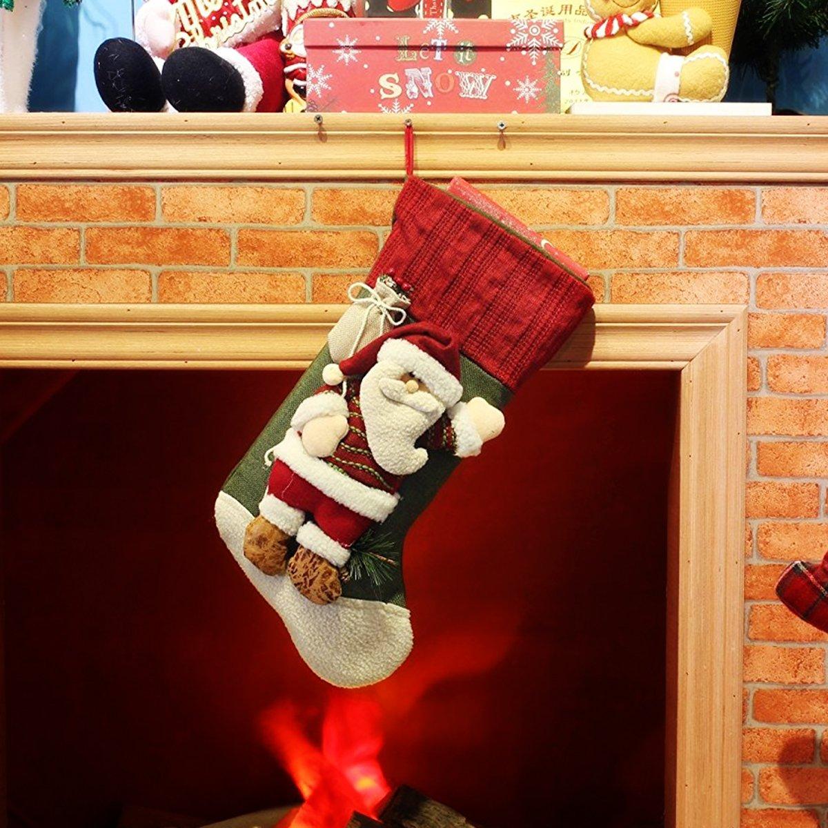 3D Santa Claus Stockings