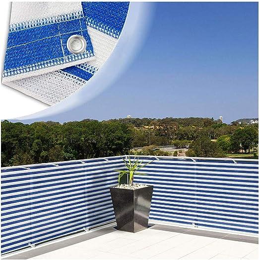 Sombra 90% Sun Shade Tela For Pérgola Cubierta Porche Pantalla Vertical 6.6X6.6ft Resistente A Los Rayos UV Malla Solar Azul Blanco For Jardín Cubierta Flores Plantas Bloqueador Solar Sombra Paño Red: Amazon.es: