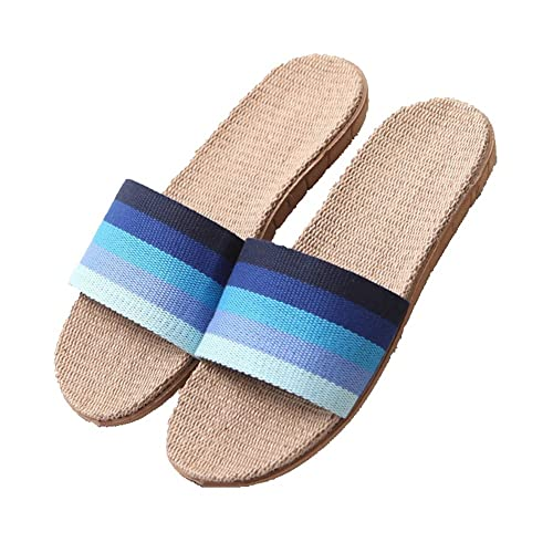 13259f7ebdfa8 Amazon.com | CYBLING Lightweight Slip On Linen House Slippers for ...