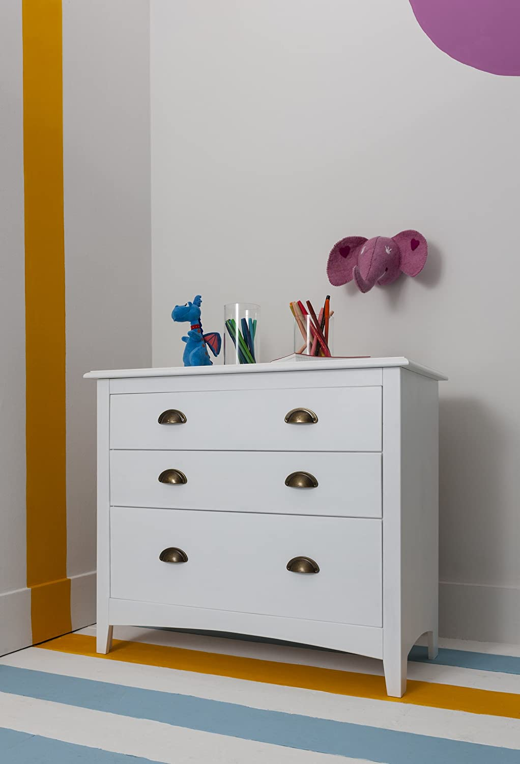 3 Drawer Chest of Drawers Noa & Nani (White)