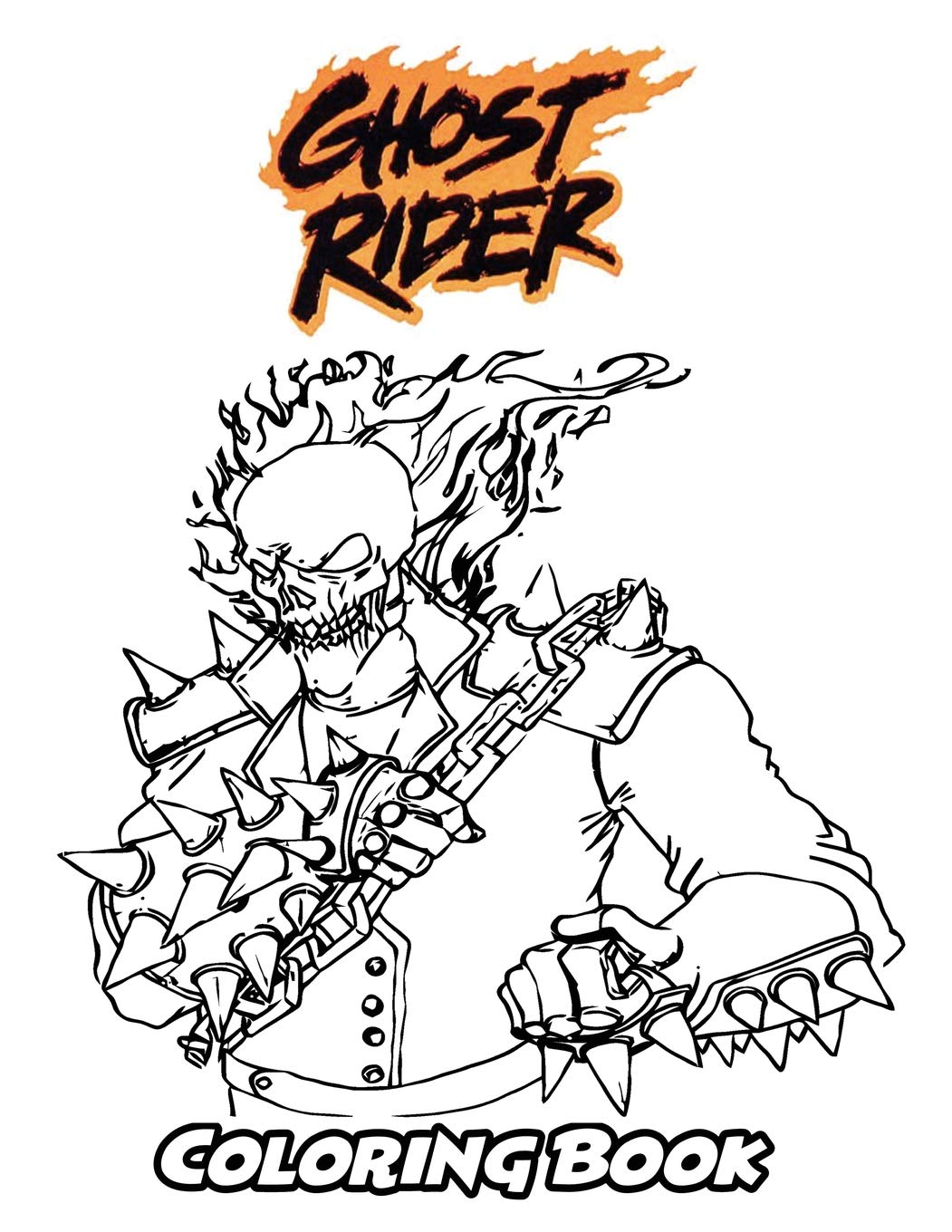 Amazon Com Ghost Rider Coloring Book Coloring Book For