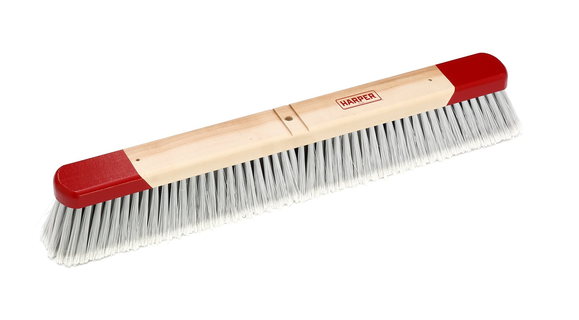 Harper Brush 222412 Broom Head, Polystyrene Fiber, Indoor, Smooth Surface, Maple, 24'' (Pack of 6)