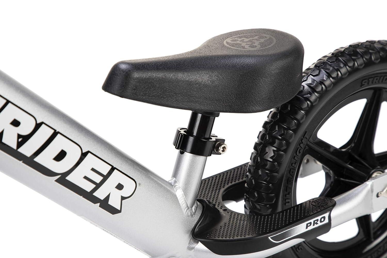 2,3 12 Pulgadas sill/ín Ajustable para ni/ños de 18 Meses Strider 12 Pro Balance Bicicleta sin Pedales Ultraligera 4 y 5 a/ños