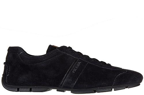 Prada Uomo Nuove Sneakers BluAmazon itE Camoscio Scarpe Borse F1TKclJ