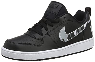 new product 3d1bd d8e80 Nike Jungen Sneaker Court Borough Low (GS) Basketballschuhe Mehrfarbig  (Black/Multi-