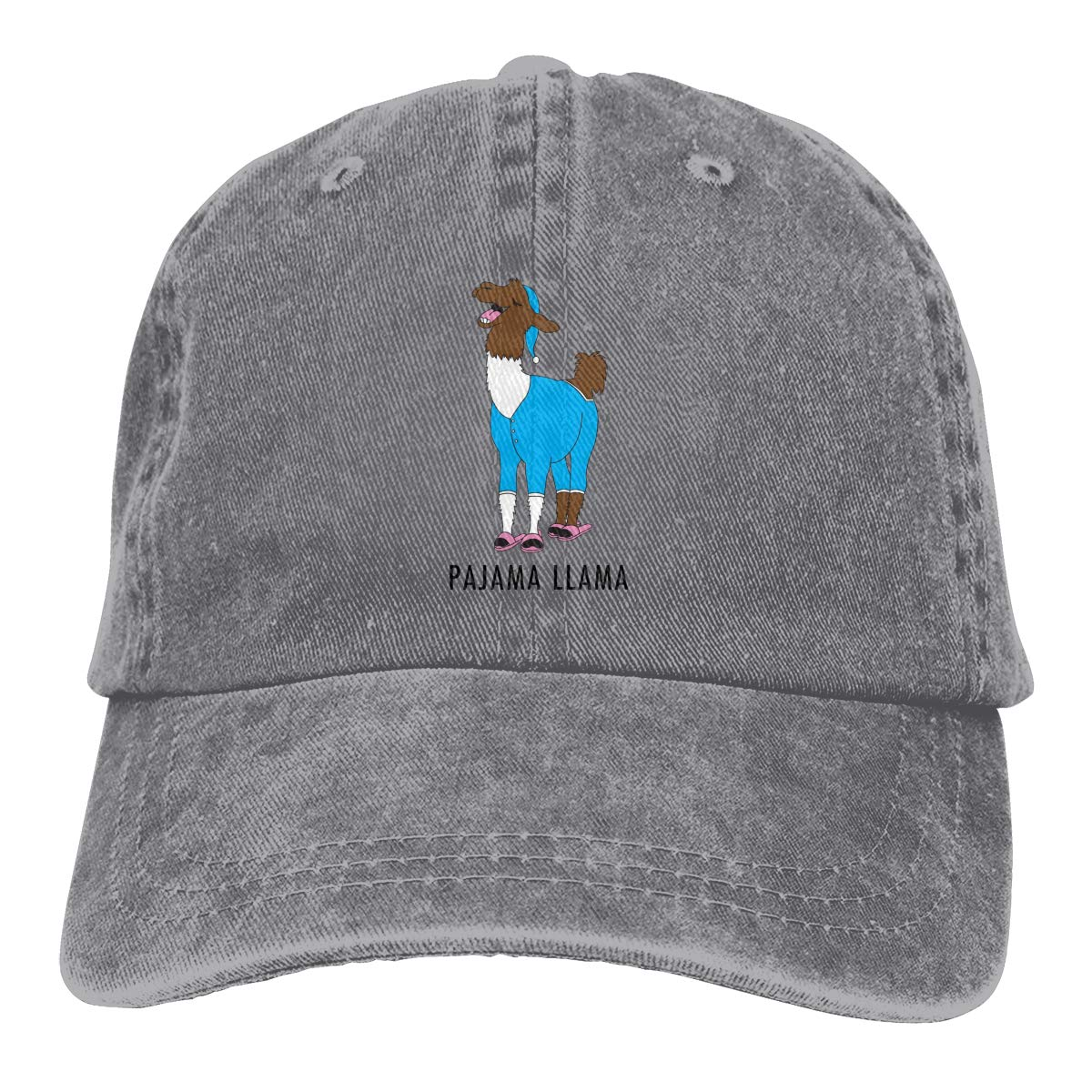 Pajama Llama Unisex Baseball Cap Cotton Denim Fashion Adjustable Sun Hat for Men Women Youth Deep Heather