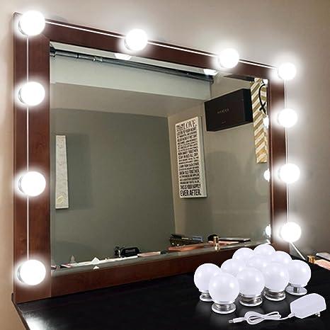 Amazon hollywood vanity mirror light kits kohree dimmable led hollywood vanity mirror light kits kohree dimmable led makeup mirror light bulbs 10 bulbs aloadofball Choice Image