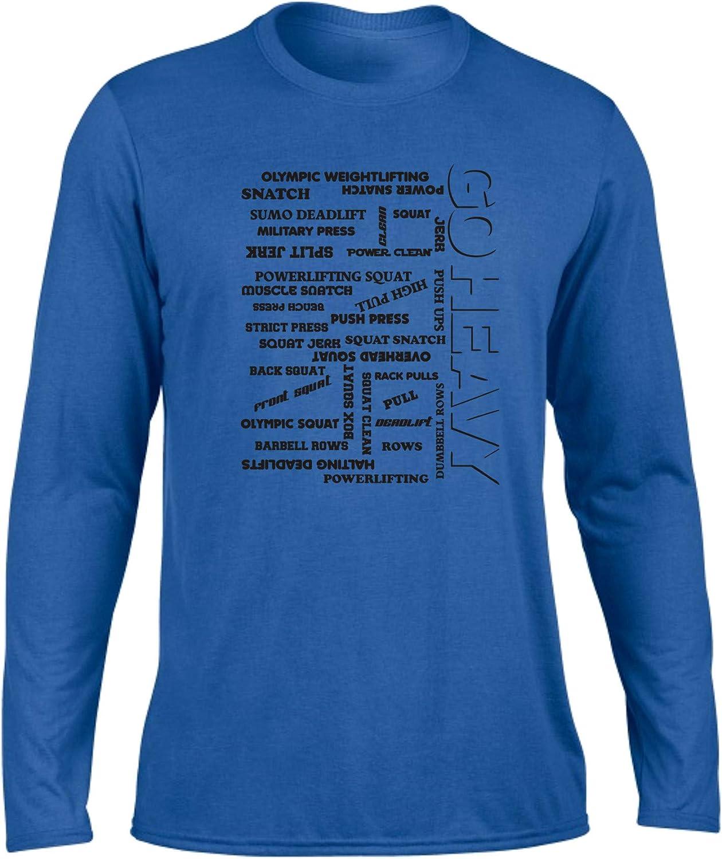 GO HEAVY Camisa de manga larga Deportiva para Hombres para Entrenamiento de Fuerza - All The Pain - Azul - S: Amazon.es: Deportes y aire libre