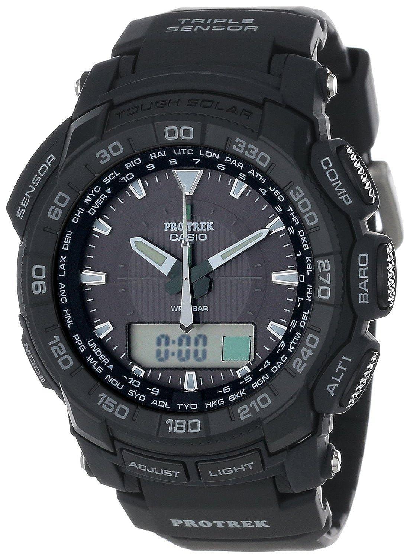 Casio カシオ Men's PRG550-1A1CR Pro Trek Triple Sensor Tough Solar アナログ-デジタルウォッチ 男性用 メンズ 腕時計 (並行輸入) B00FNN3U0G