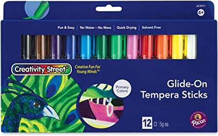 Creativity StreetA Glide-on Tempera Sticks Primary Colors