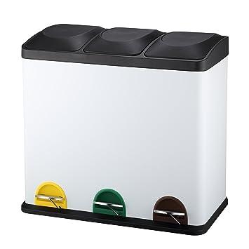 harima triple poubelle recyclage 54l poubelle tri slectif 3 compartiments 3 x 18l - Poubelle Tri Selectif 3 Bacs