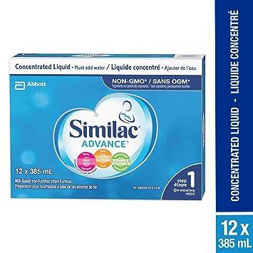 Similac Advance Step 1 Non Gmo Baby Formula Concentrated Liquid 12