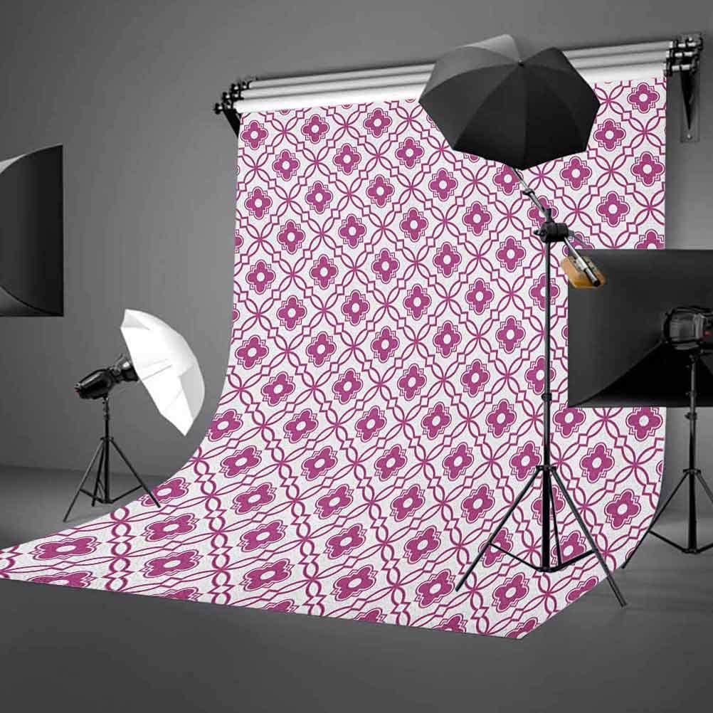 7x10 FT Geometric Vinyl Photography Background Backdrops,Monochrome Nautical Themed Pattern Marine Inspired Circles Ocean Design Background for Selfie Birthday Party Pictures Photo Booth Shoot