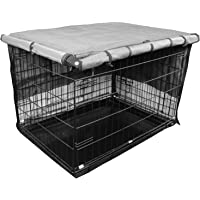 Iconic Pet Protectant Indoor/Outdoor Pet Crate Cover in Varying Sizes - Oxford Fabric Cover, Water Resistant, Four Side…