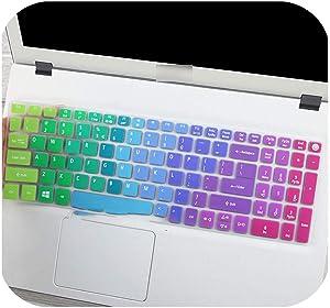 15.6 Inch Keyboard Silicone Keyboard Cover Protector for Acer Aspire E15 E5-573G 532 522 V3-574 F5-572G Vn7-592G T5000 Tmp258-Rainbow-