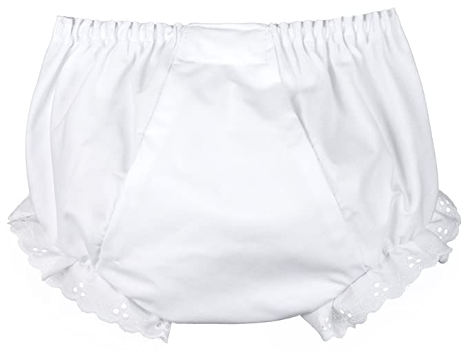 I.C. Collections Little Girls White Double Seat Panty, Size 04
