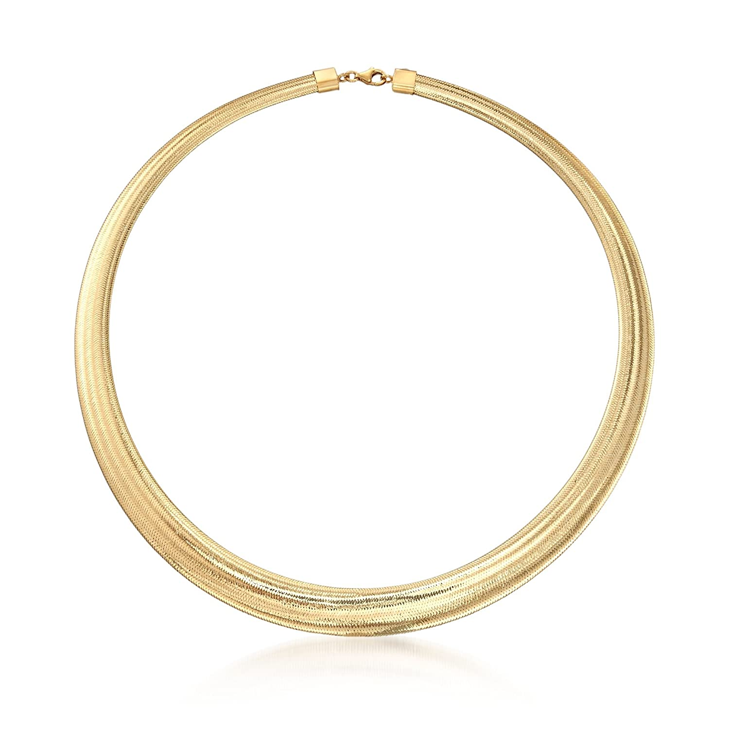 ross-simonsイタリア18 kt Gold Over Sterling Silver Graduatedオメガネックレス B07BB5MQSN 18.0 インチ