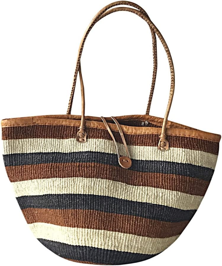 Brown Sisal Sling Bag; Kiondo bag; African tote bag; Handbag; Sisal tote bag; African basket