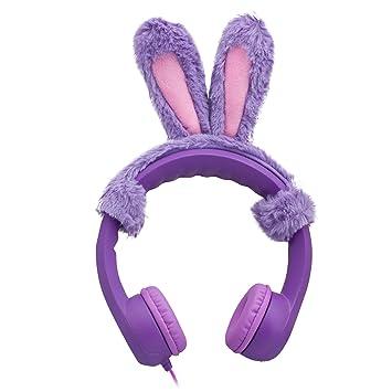 Rabbit Ear Elesound Auriculares de Diadema con Cable para niños,85db,límite de Volumen,Auriculares para niños,Auriculares para niños,Suave,Ajustable ...