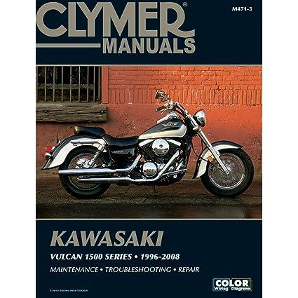 amazon com 1996 2008 clymer kawasaki motorcycle vulcan 1500 series rh amazon com 2004 Kawasaki Cruiser Nomad 1500 Motorcycle
