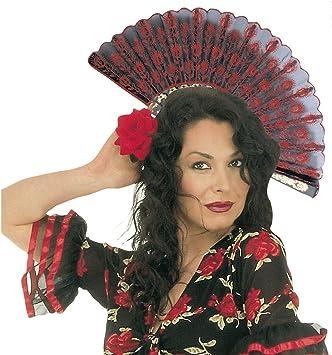 Artículos de fiesta de la mano español rojo de la bandera de España de la mano de los compartimentos de Carnaval Disfraz Accesorio de compartimentos: Amazon.es: Juguetes y juegos