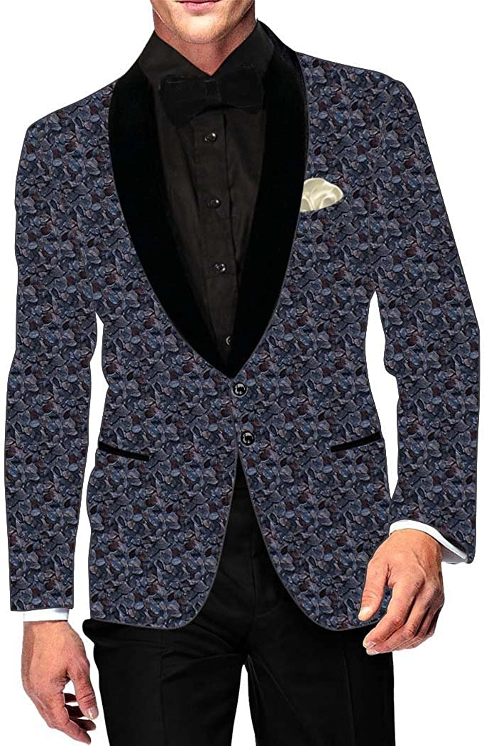 INMONARCH Mens Purple Wine Cotton Blazer Two Button SB18167