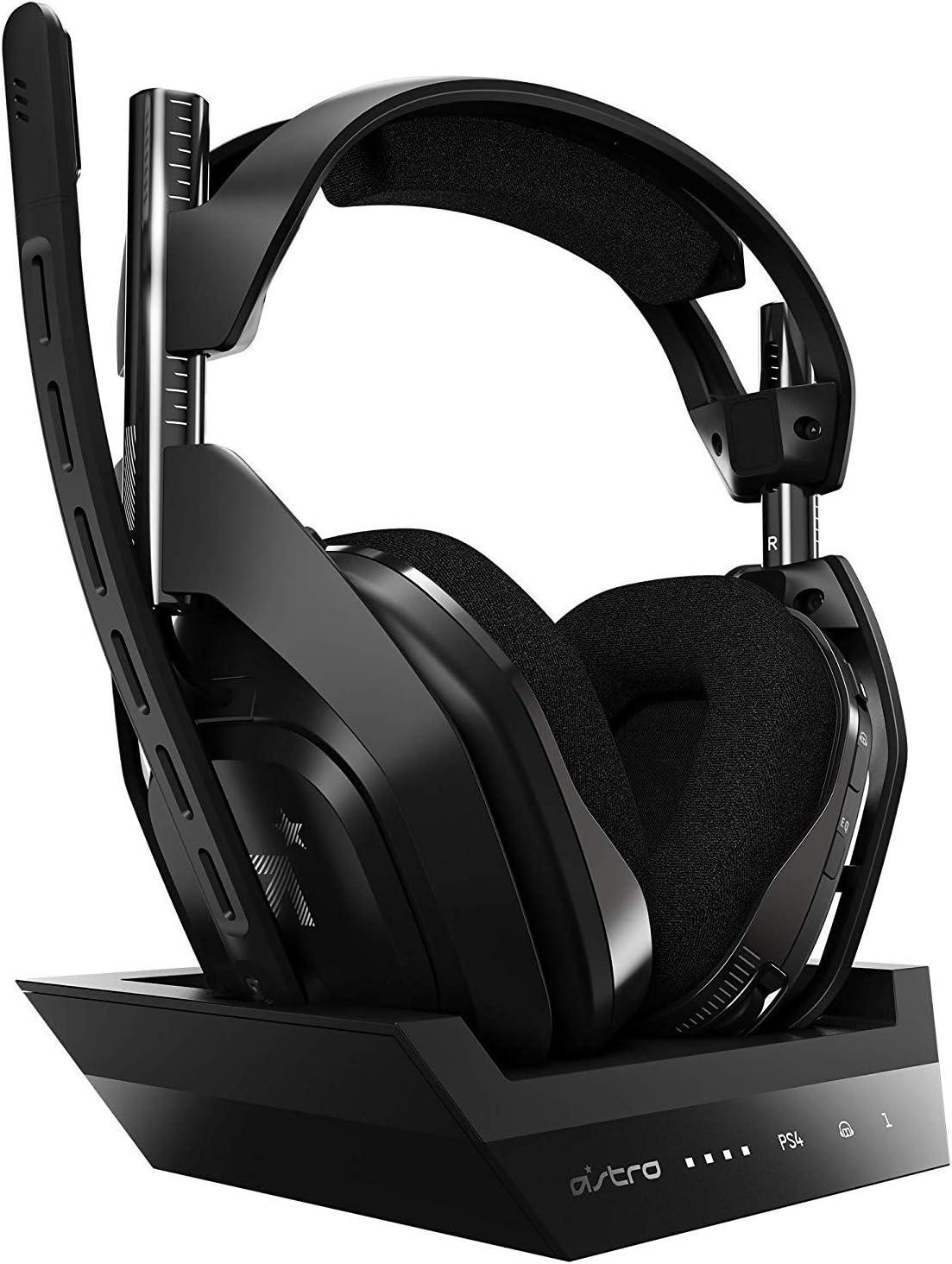 Astro Gaming A50 Auriculares inalámbricos + Estación base, Cuarta generación con Dolby Audi, Per PS4,PC, Mac, Negro/Plateado