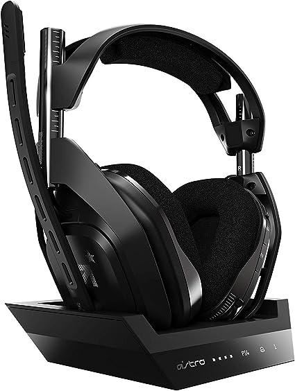 Astro Gaming A50 Auriculares inalámbricos + Estación base, Cuarta generación con Dolby Audi, Per PS4,PC, Mac, NegroPlateado