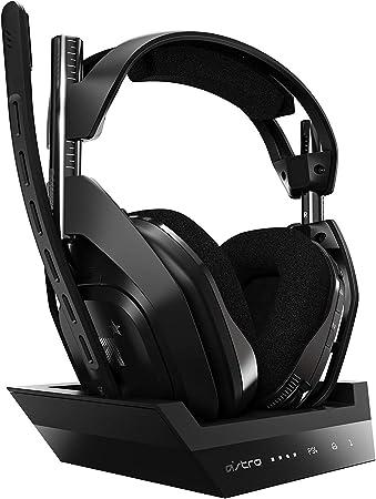 Oferta amazon: ASTRO Gaming A50 Auriculares inalámbricos para gaming y estación-base de carga, 4ta gen, Dolby Audio, control de balance de juego/voz, 2.4 GHz, 9m alcance para PS5, PS4, PC, Mac, Negro/Plata