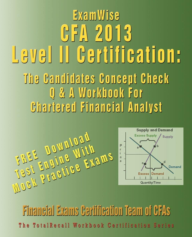 Workbooks cfa workbook : Buy Examwise for the Cfa (R) Level II Certification: The ...