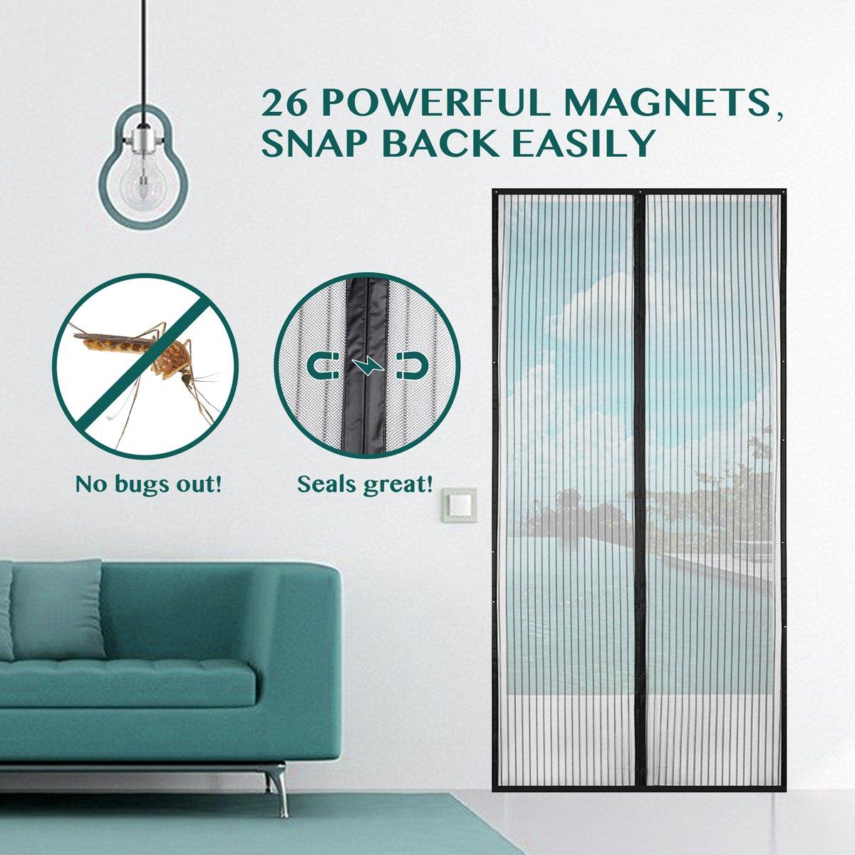 Amazon.com: Magnetic Screen Door, BearMoo Updated Sticky Design Door ...