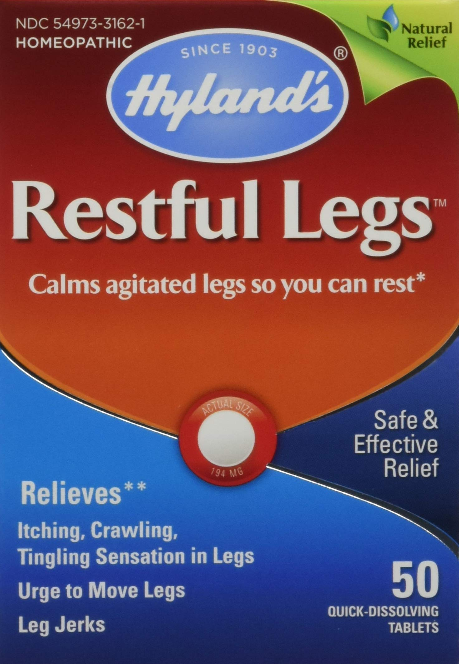 Hyland's Restful Legs Tablets 50 ea (Pack of 2) by Hyland's Homeopathic
