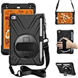 ZenRich iPad Mini 5 Case 2019 iPad Mini 4 Case 2015 zenrich Heavy Duty Shockproof Rugged Case with Pencil Holder Kickstand Ha