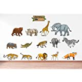 Rawpockets 'Caution Wild Animals - Kids Room ' Wall Sticker (PVC Vinyl, 120 cm x 60cm)