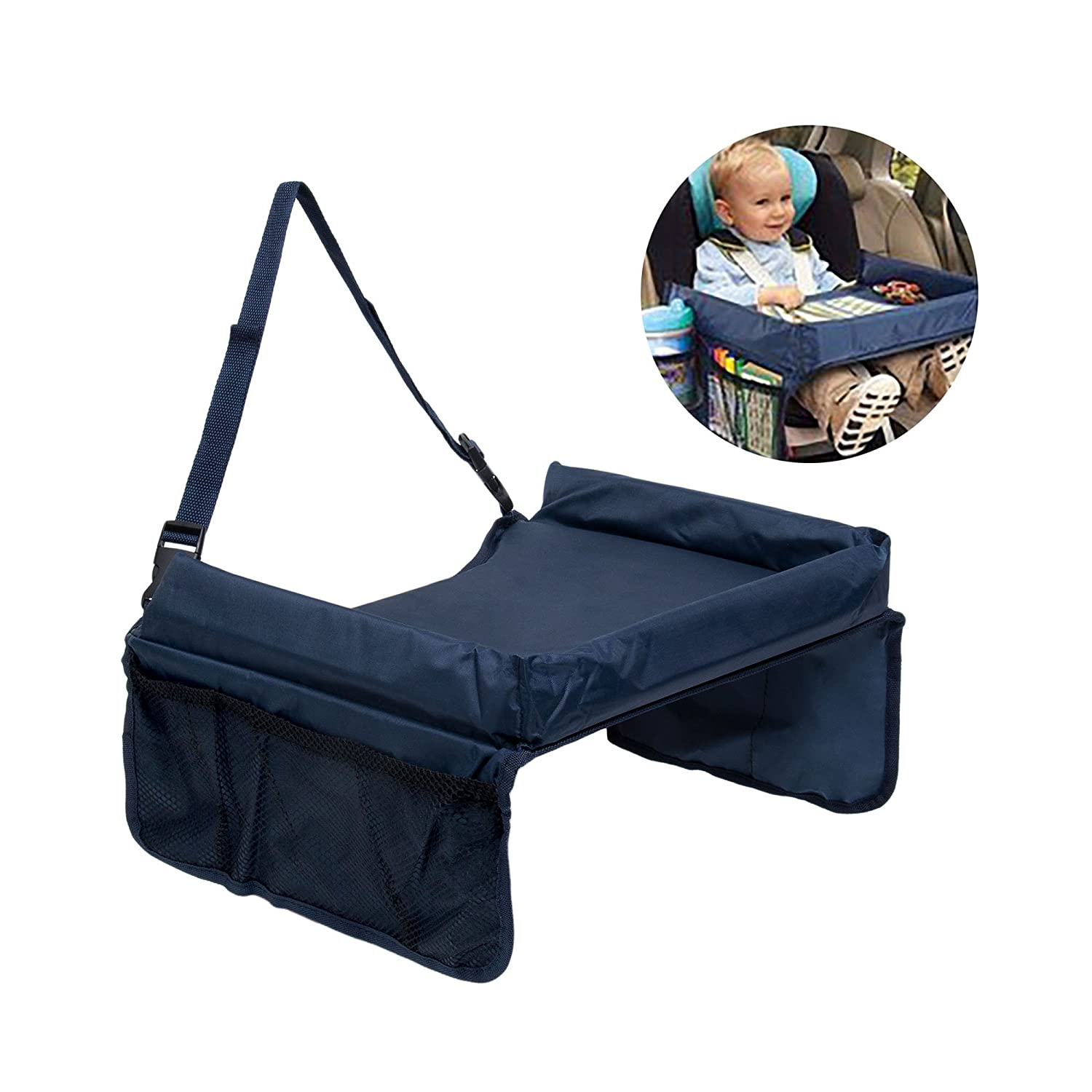 Travel Games Tray for Children's Car Seat| Baby's Travel Tray For the Car| Folding Tray for Car | Baby's Car Seat Accessory Bandeja de viaje