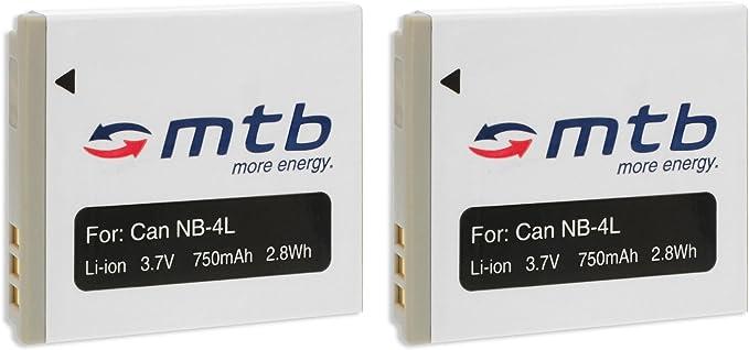 2x Akku Nb 4l Für Canon Ixus 30 40 50 55 60 65 70 75 Elektronik