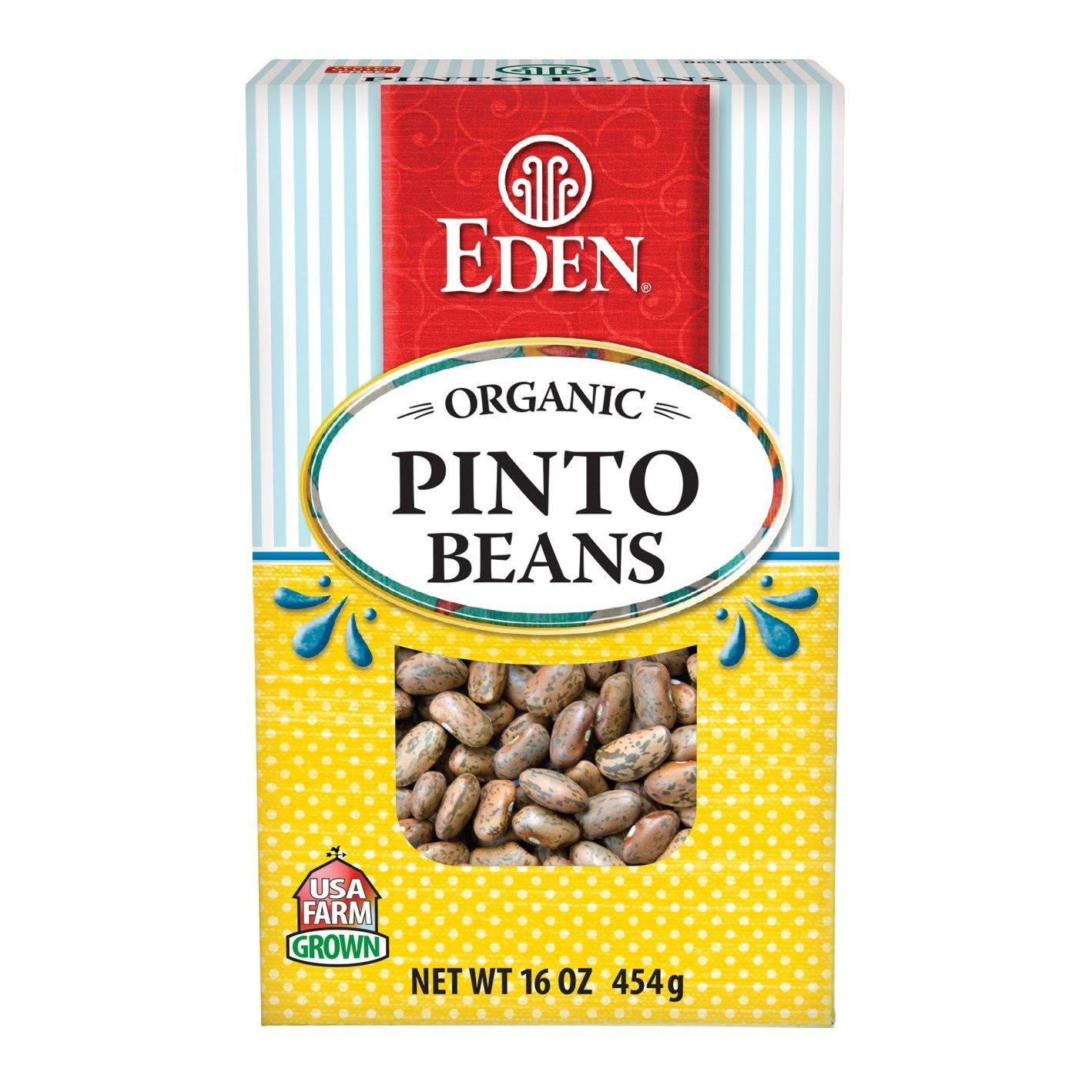 Organic Pinto Beans Dry 16 oz. (Case of 12) by Eden